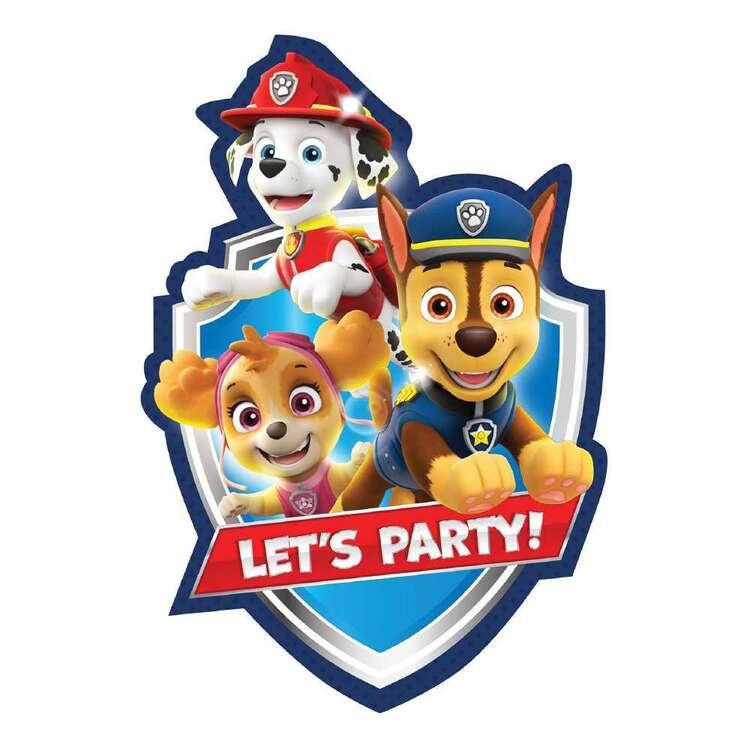 Paw Patrol Postcard Invites 8 Pack
