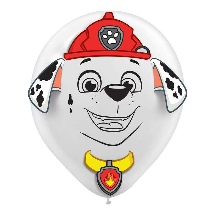 Paw Patrol Latex Balloons & Add Ons 6 Pack