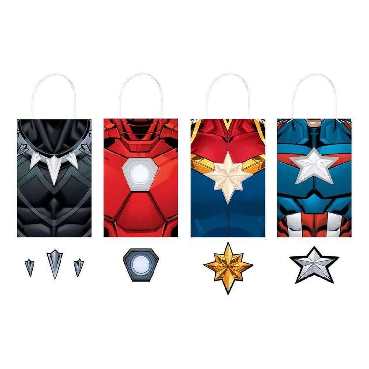 Powers Unite Marvel Avengers Paper Kraft Bags 8 Pack