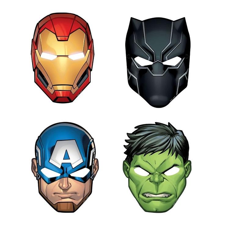 Powers Unite Marvel Avengers Paper Masks 8 Pack