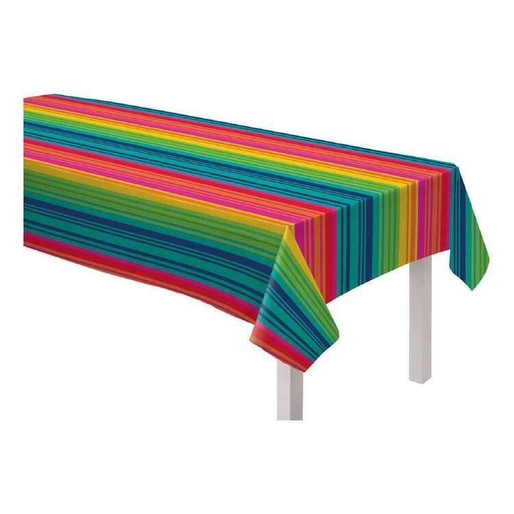Fiesta Vinyl Striped Table Cover