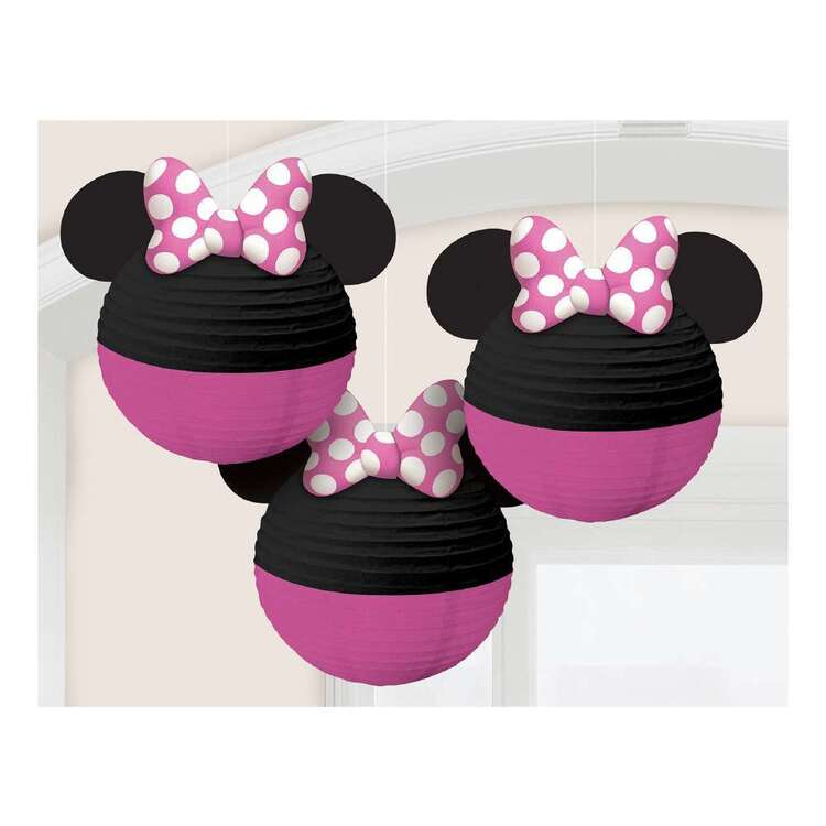 Minnie Mouse Paper Lanterns 3 Pack