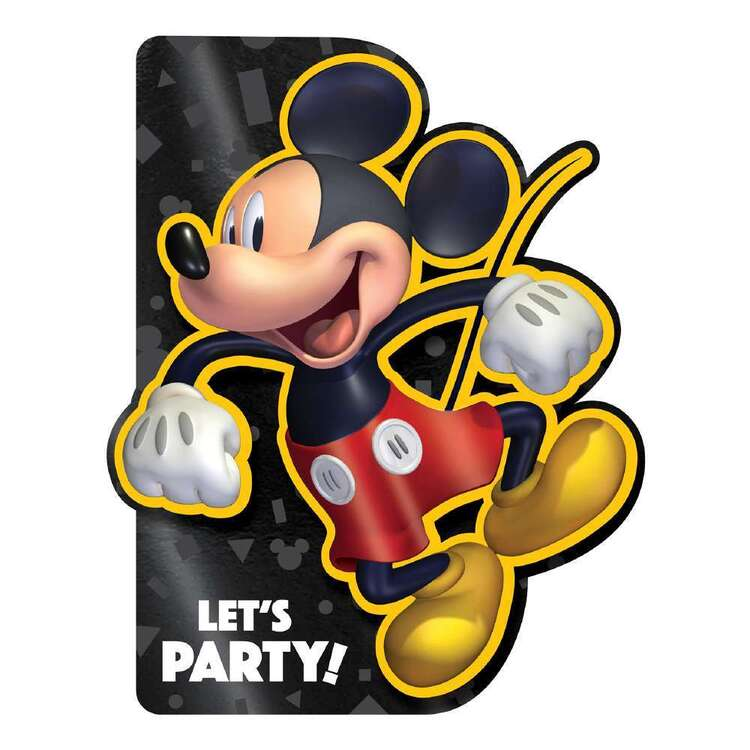 Mickey Mouse Deluxe Invites & Envelopes 8 Pack