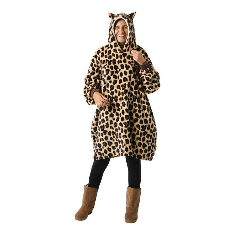 Spartys Leopard Novelty Adult Hoodie