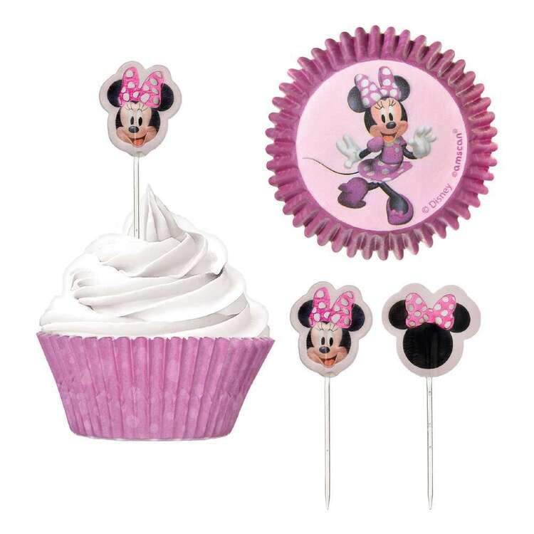 Minnie Mouse Cupcake Cases & Picks Set