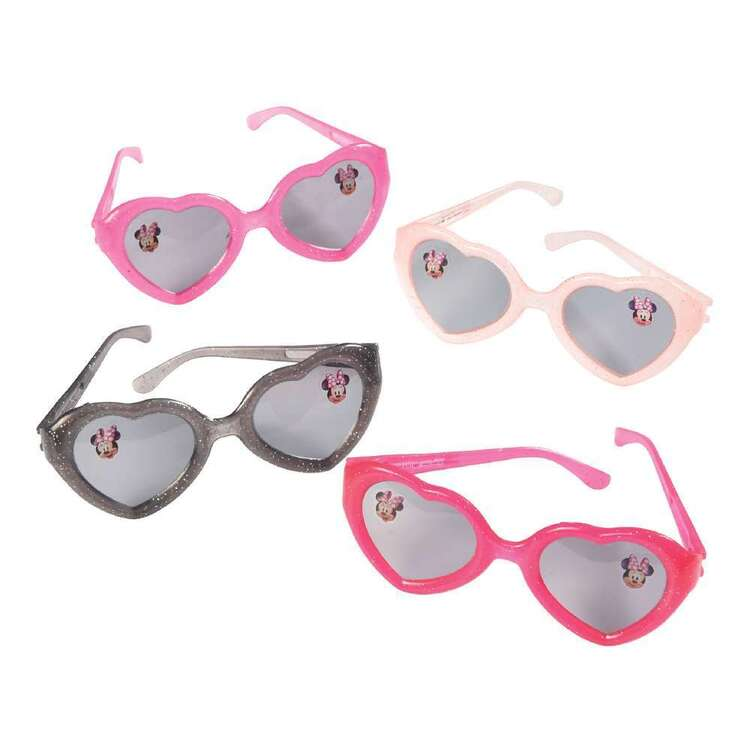 Minnie Mouse Glittered Glasses 6 Pack