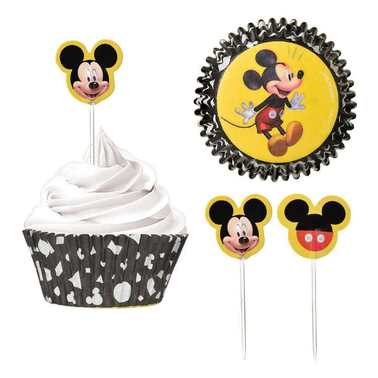 Mickey Mouse Cupcake Cases & Picks Set