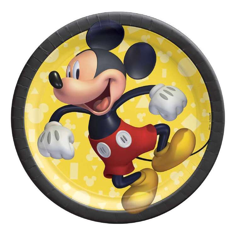 Mickey Mouse Paper Plates 8 Pack