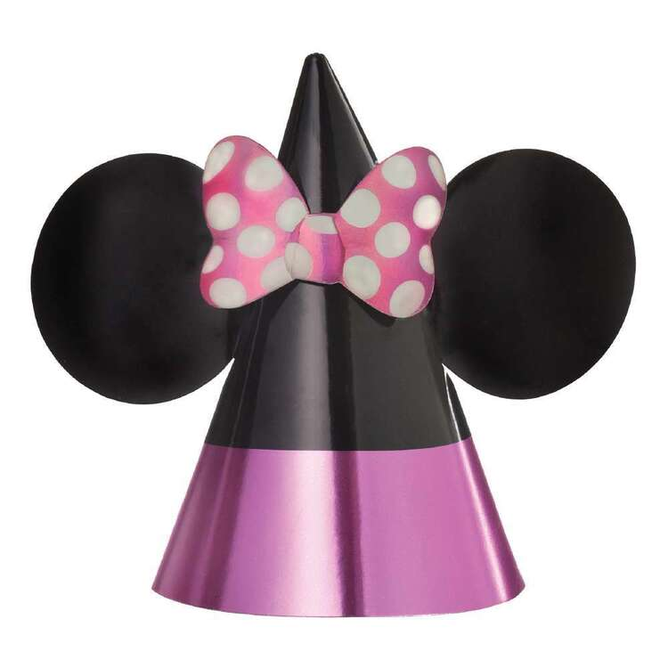 Minnie Mouse Paper Cone Hats 8 Pack