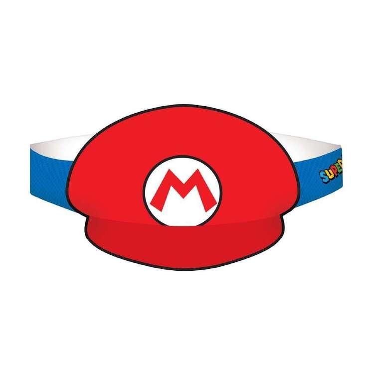 Super Mario Bros Paper Hat 8 Pack