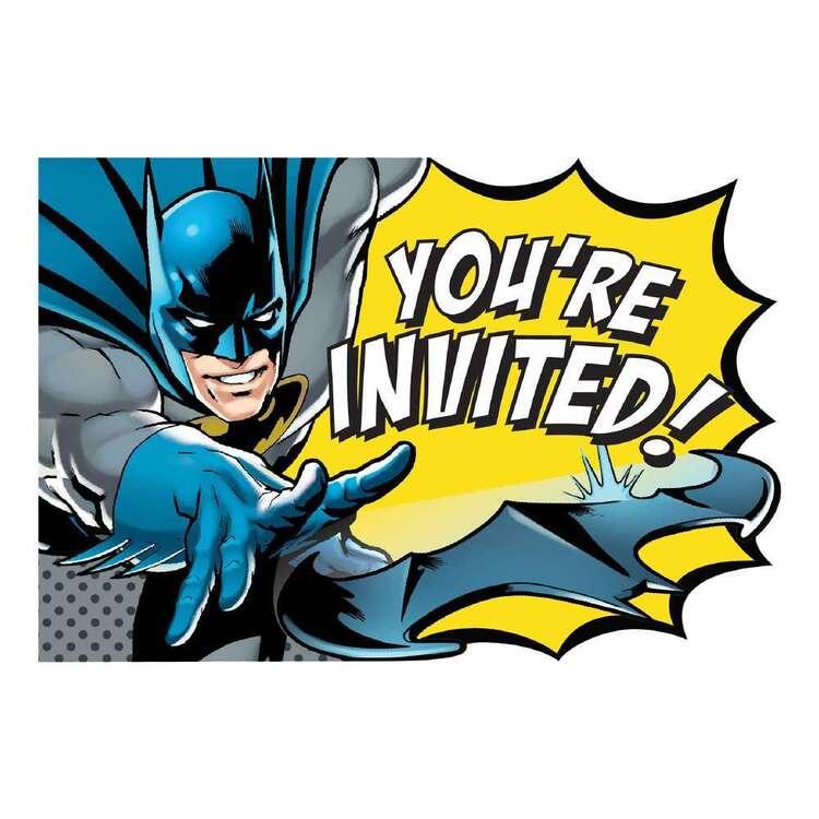 Batman Heroes Unite Invitations 8 Pack