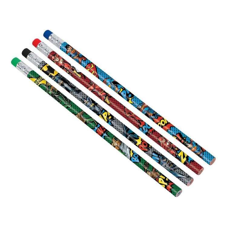 Justice League Heroes Unite Pencil Favours 8 Pack