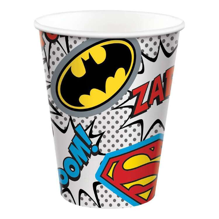 Justice League Heroes Unite Paper Cups 8 Pack