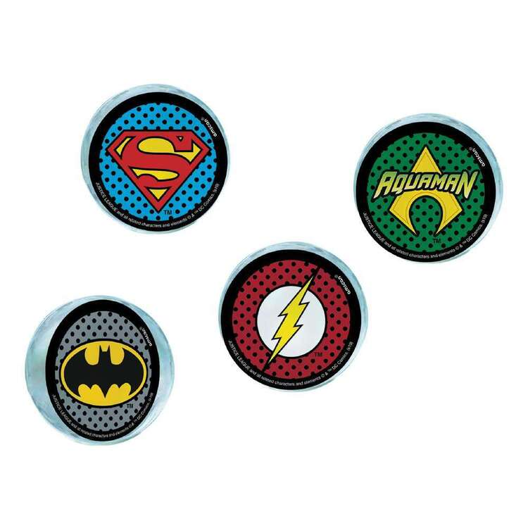 Justice League Heroes Unite Bounce Balls 4 Pack