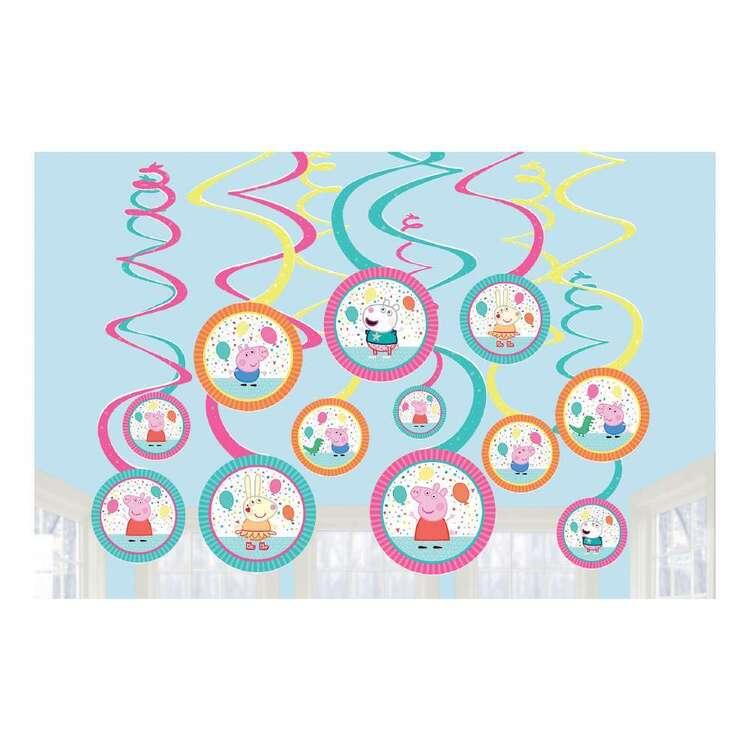 Peppa Pig Swirls Hanging Decorations 12 Pack