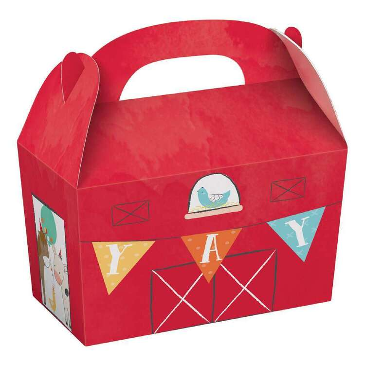 Barnyard Birthday Treat Boxes 8 Pack