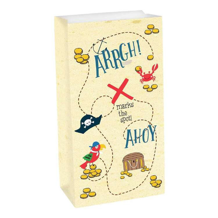 Ahoy Birthday Paper Treat Bags 8 Pack