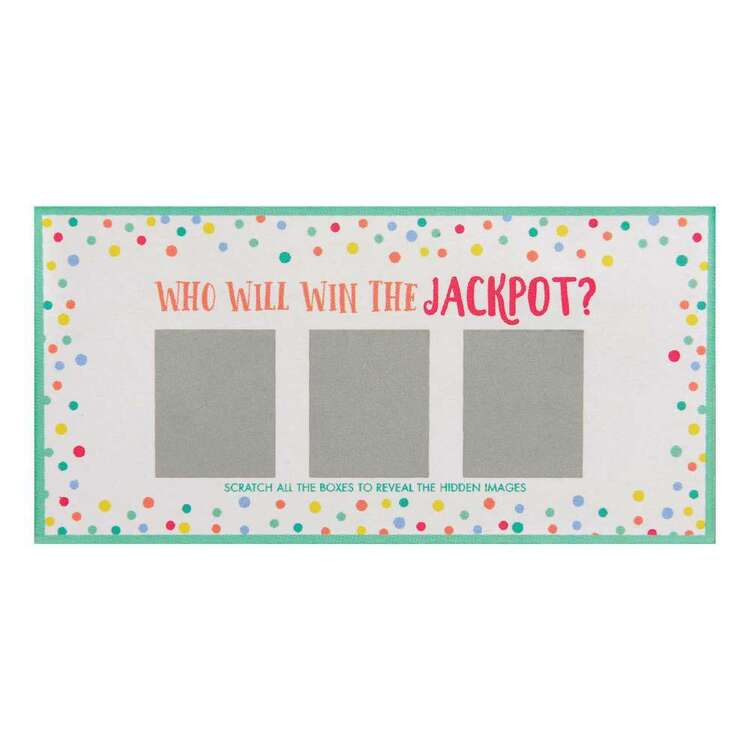 Baby Shower Scratch Off Card Game
