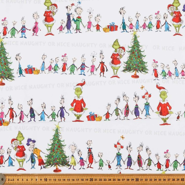 Grinchmas Christmas Whoville Printed 112 cm Cotton Fabric