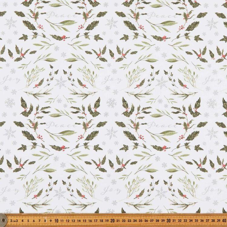 Robert Kaufman Christmas Peace & Joy Printed 112 cm Cotton Fabric