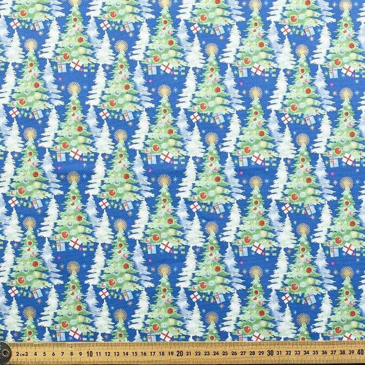Robert Kaufman Festive Trees Printed 112 cm Cotton Fabric