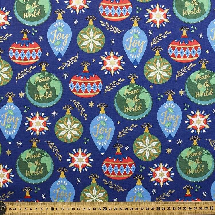 Robert Kaufman Peace On Earth Printed 112 cm Cotton Fabric