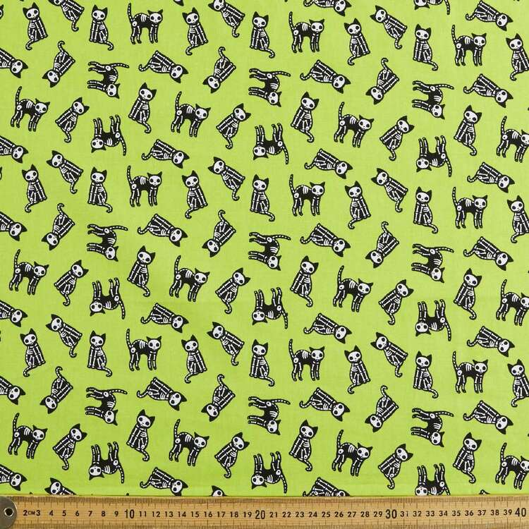 Skele-Cats Cotton Fabric