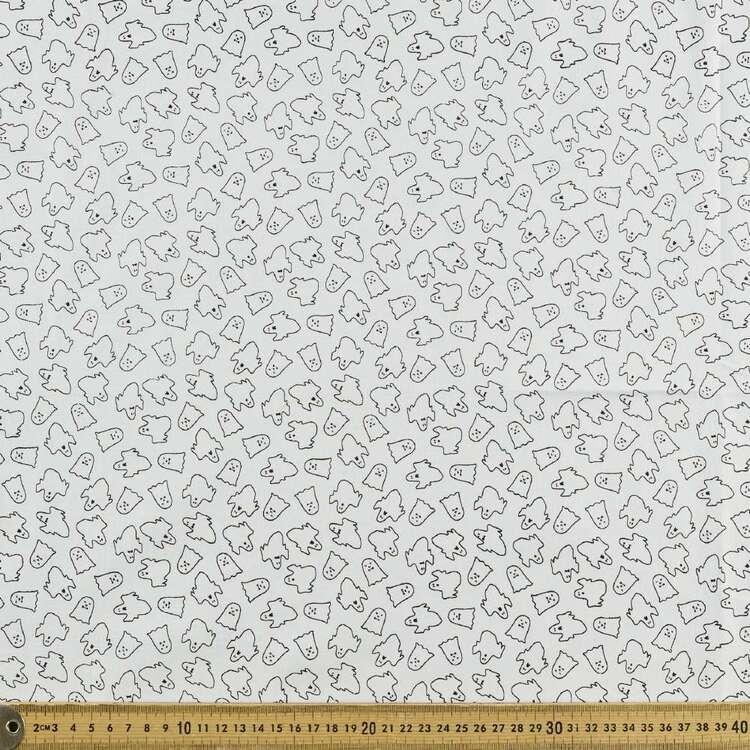 Halloween Ghost Printed 112 cm Cotton Blender Fabric