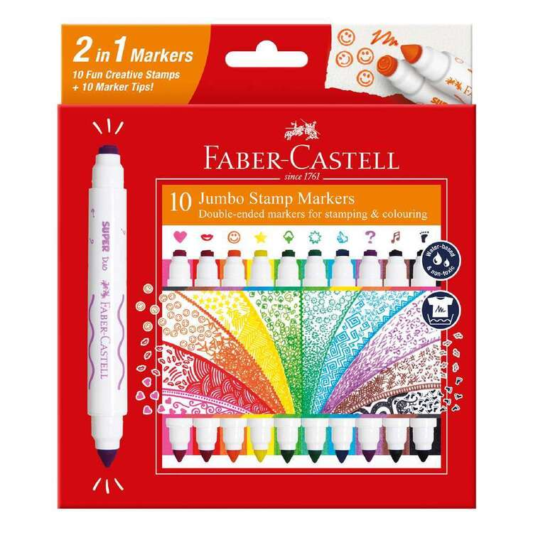 Faber Castell Jumbo Stamp Markers 10 Pack