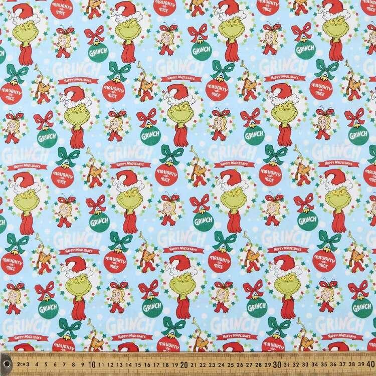 Grinchmas Christmas Holiday Printed 112 cm Cotton Fabric