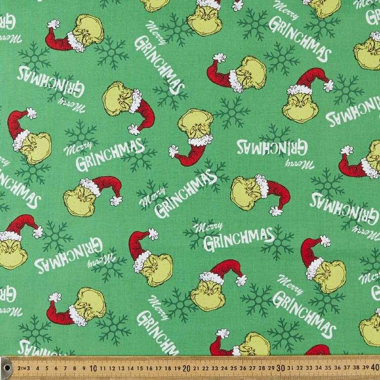 Grinchmas Christmas Cotton Fabric