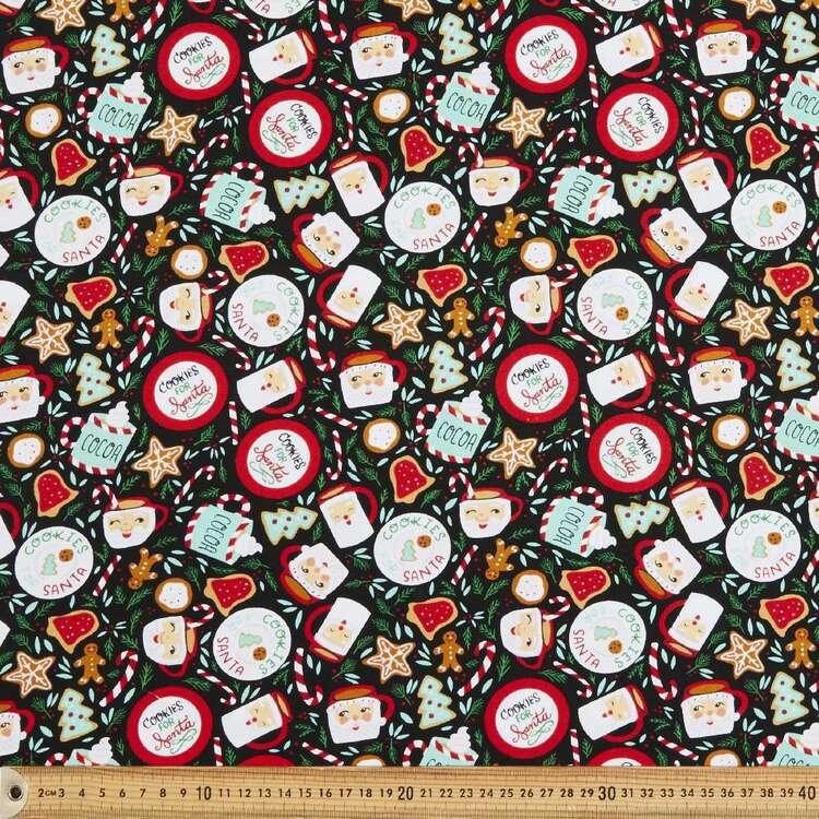 Robert Kaufman Christmas Cookies For Santa Printed 112 cm Cotton Fabric