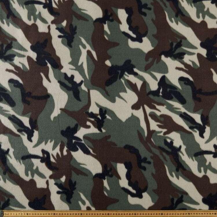 Camo Printed 148 cm Peak Polar Fleece Fabric