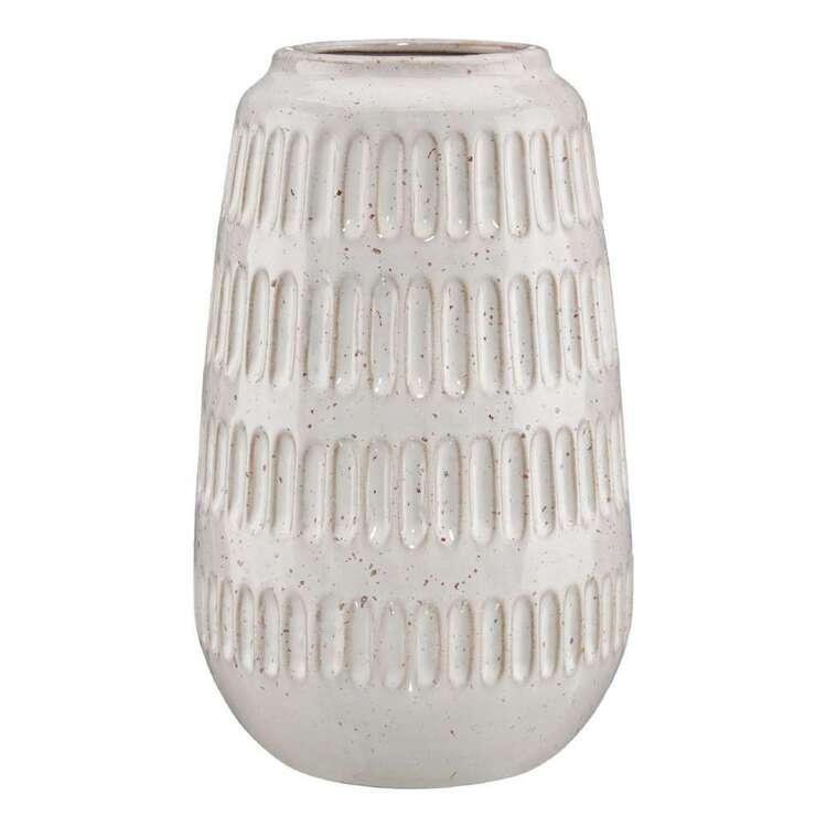 Bouclair Native Culture 20 x 18 cm Textured Porcelain Vase