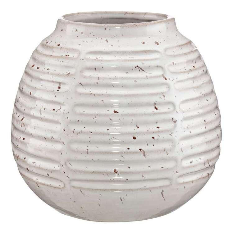 Bouclair Native Culture 17 x 25 cm Textured Porcelain Vase