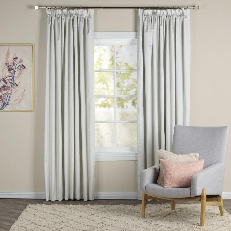 Brampton House Shiloh Blockout Pencil Pleat Curtains