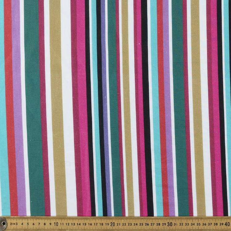 Stripe Digital Printed 112 cm Cotton Linen Fabric
