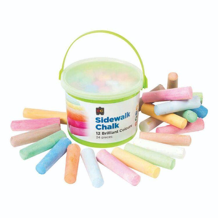 EC Chalk-Sidewalk 24 Pieces Bucket