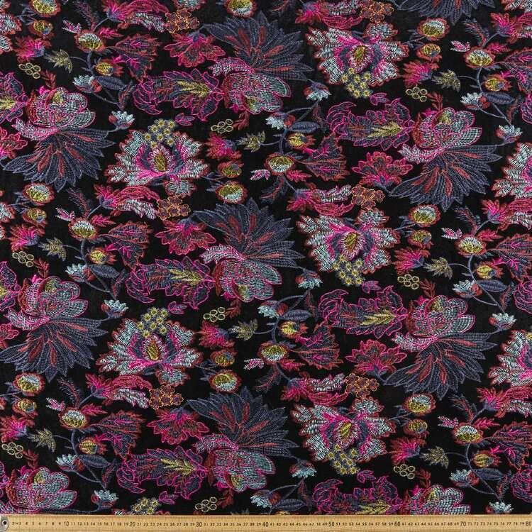 Embroidered 135 cm Fashion Velvet Fabric