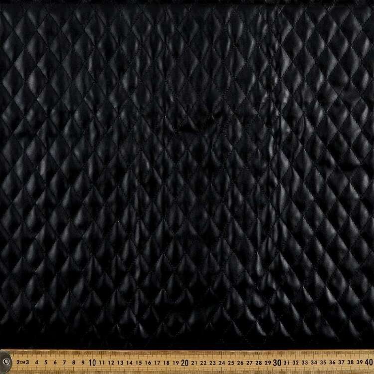 Small Diamond Quilted 135 cm Pleather Fabric