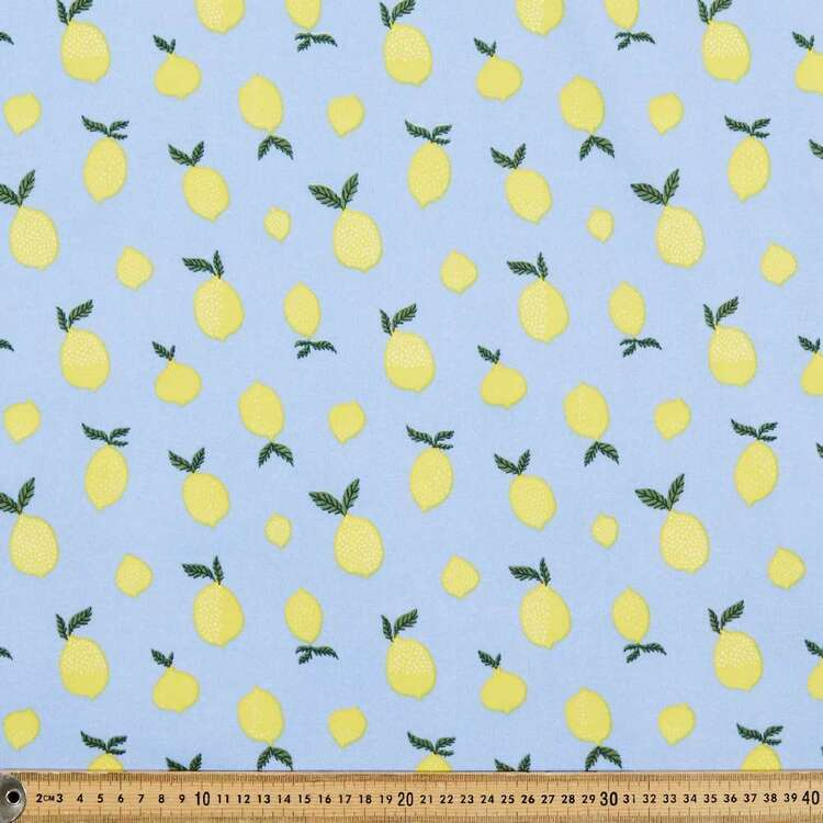 Lemon Printed 148 cm Sports Active Fleece Fabric