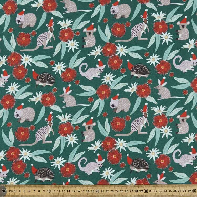 Jocelyn Proust Christmas Blossoms All Animals Cotton Fabric