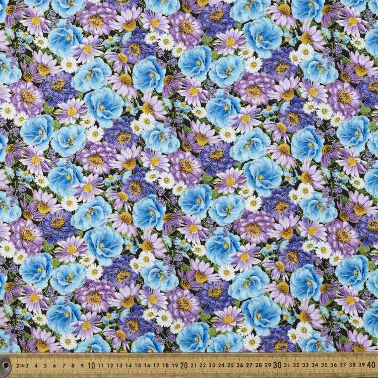 Timeless Treasures Packed Floral Printed 112 cm Cotton Fabric