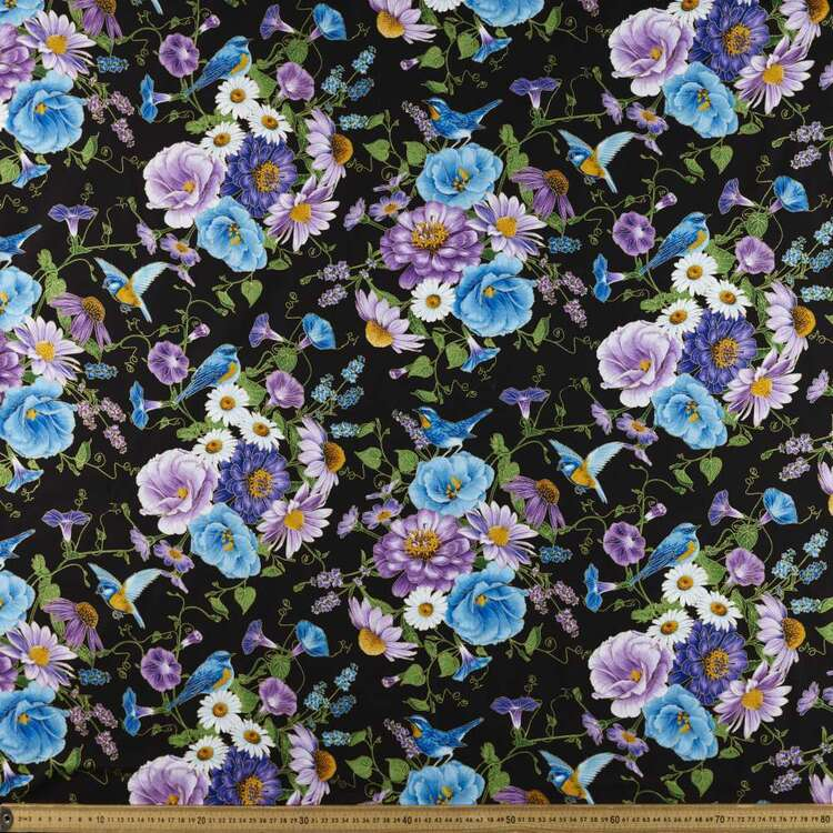 Timeless Treasures Large Floral Printed 112 cm Cotton Fabric