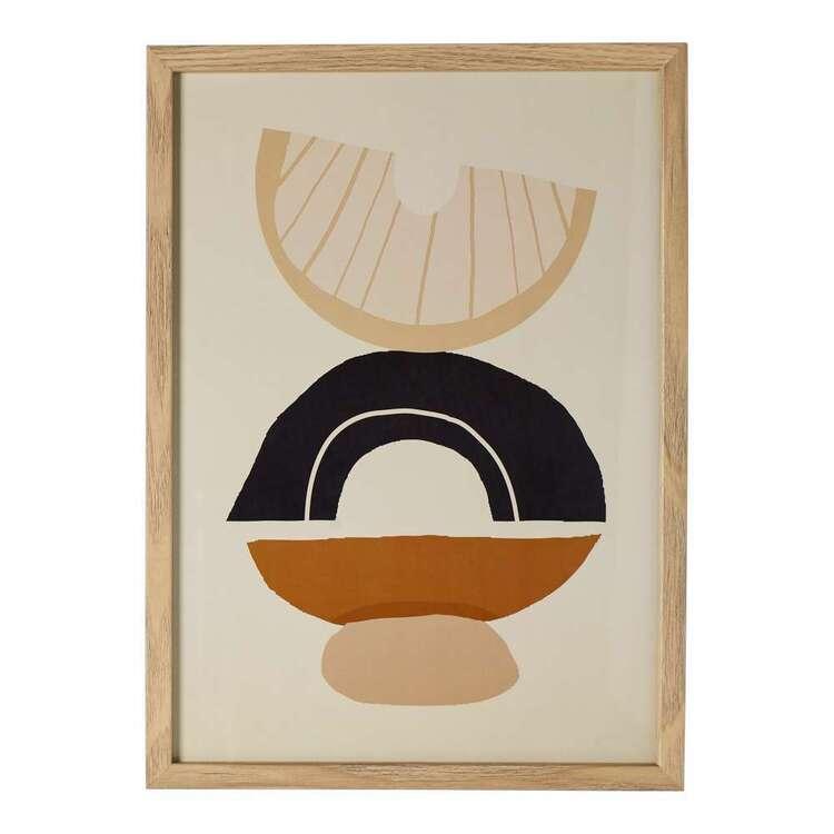 Cooper & Co Nature's Habitat Semi Circles A3 Framed Print
