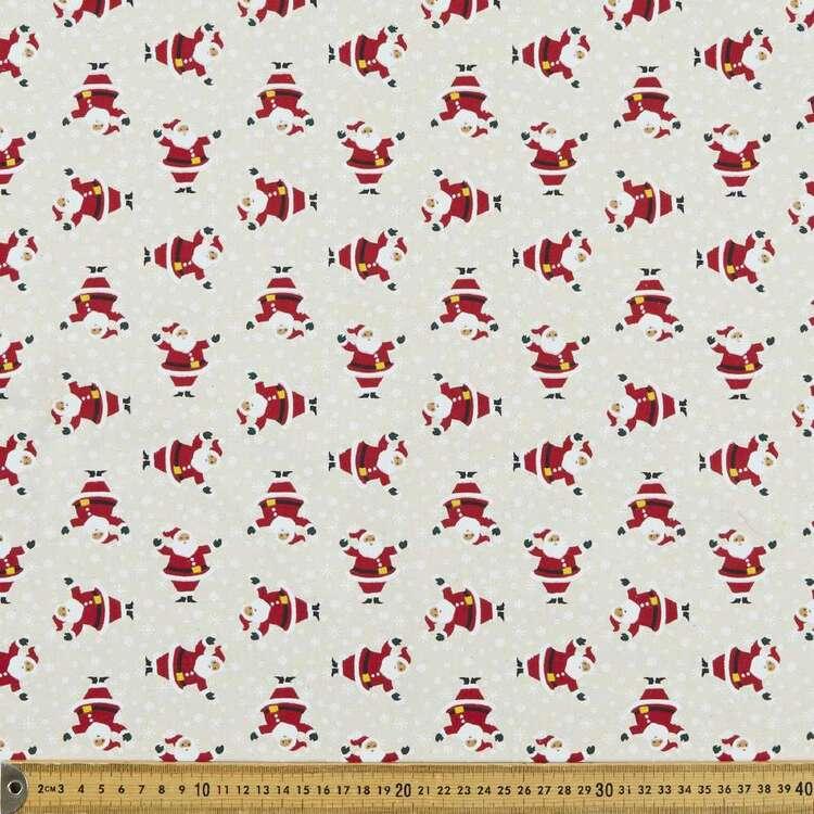 Christmas Lacquer Colourful Santa Printed 112 cm Cotton Fabric
