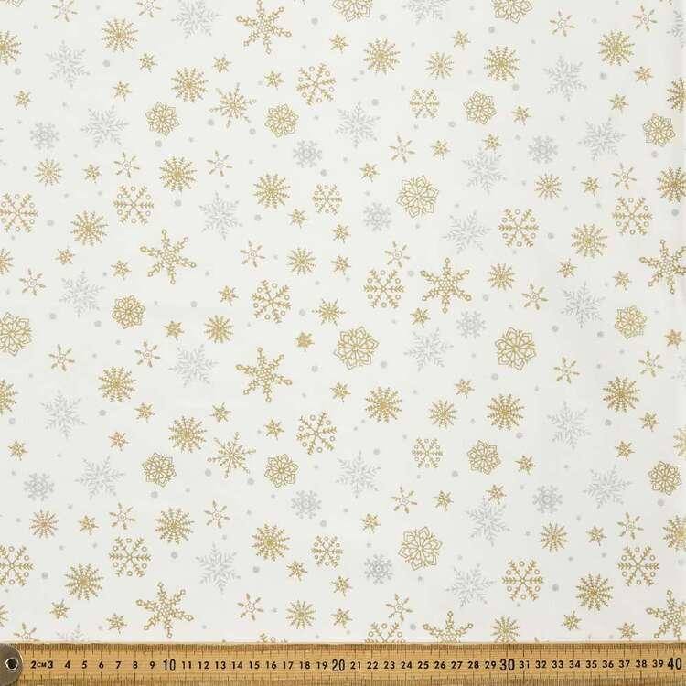 Christmas Printed 112 cm Multi Metallic Christmas Cotton Fabric