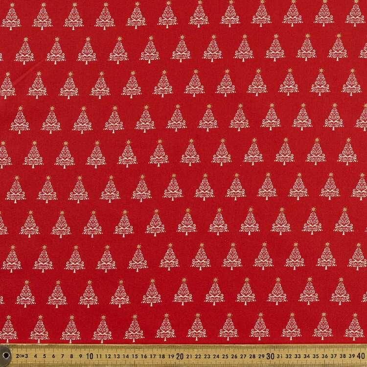 Tree & Star Printed 112 cm Scandi Christmas Cotton Fabric