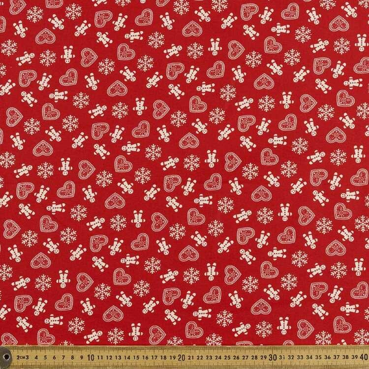 Gingerbread Printed 112 cm Scandi Christmas Cotton Fabric