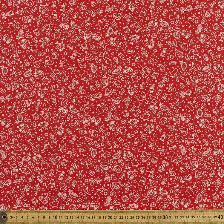 Cuties Printed 112 cm Scandi Christmas Cotton Fabric